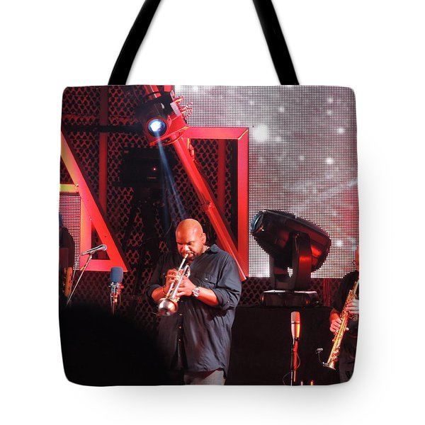 Tote Bag featuring the photograph Lashawn Ross And Jeff Coffen by Aaron Martens
