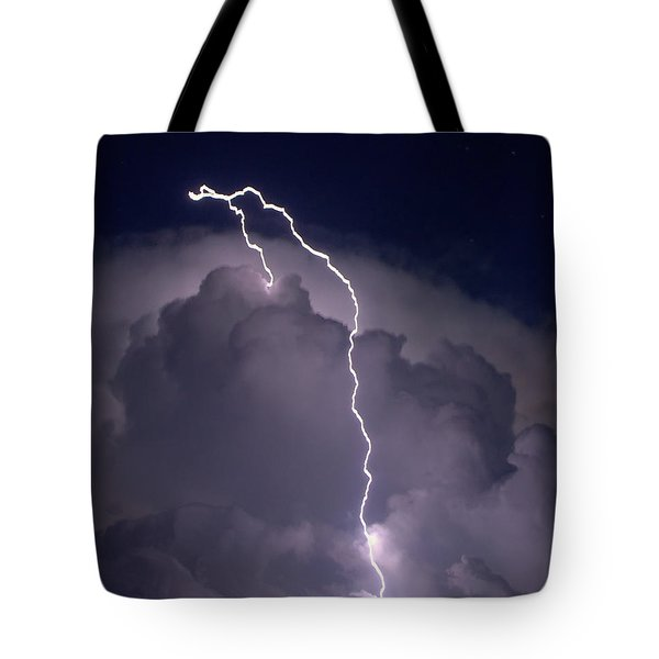 Tote Bag featuring the photograph Lashing Out by Charlotte Schafer