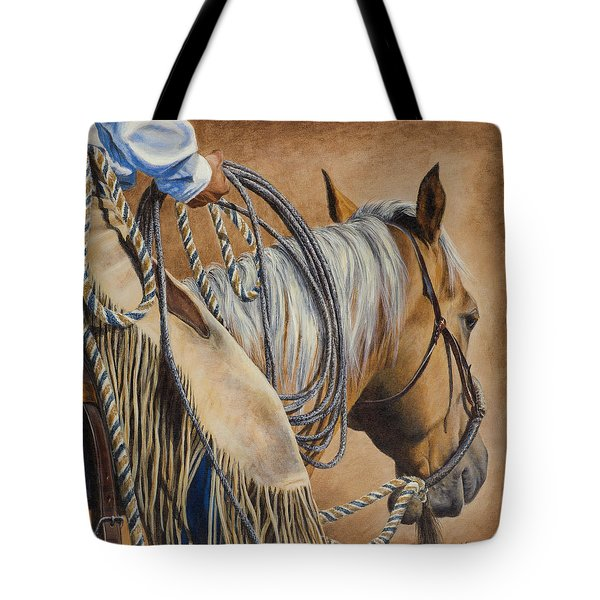 Lariat And Leather Tote Bag