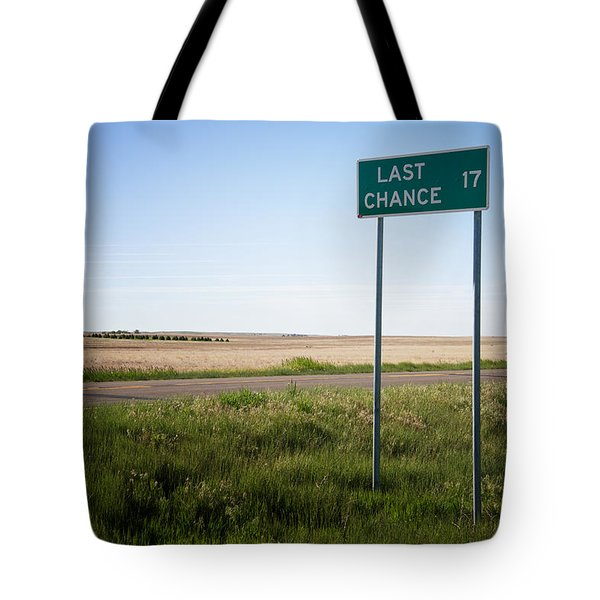 Last Chance Colorado Tote Bag by Mary Lee Dereske