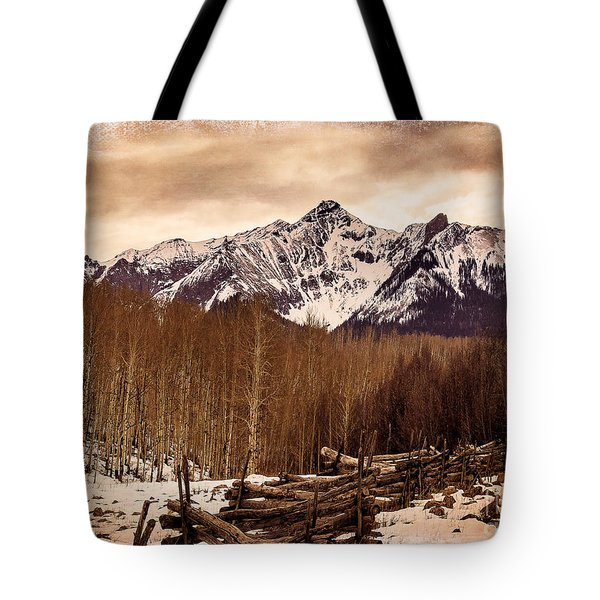 Last Dollar Road Winter Tote Bag