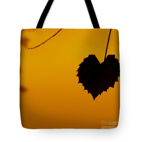 Last Leaf Silhouette Tote Bag