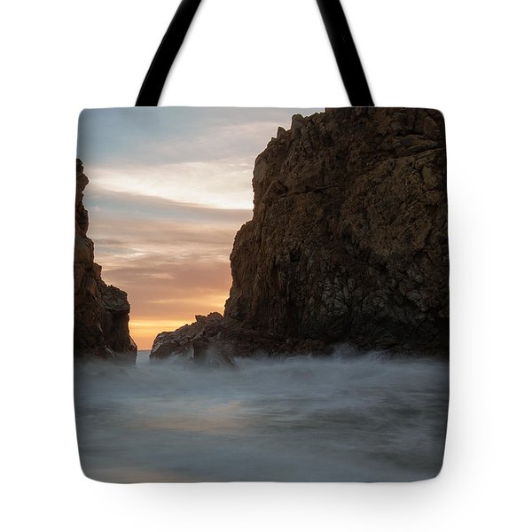 Last Light At Big Sur Tote Bag