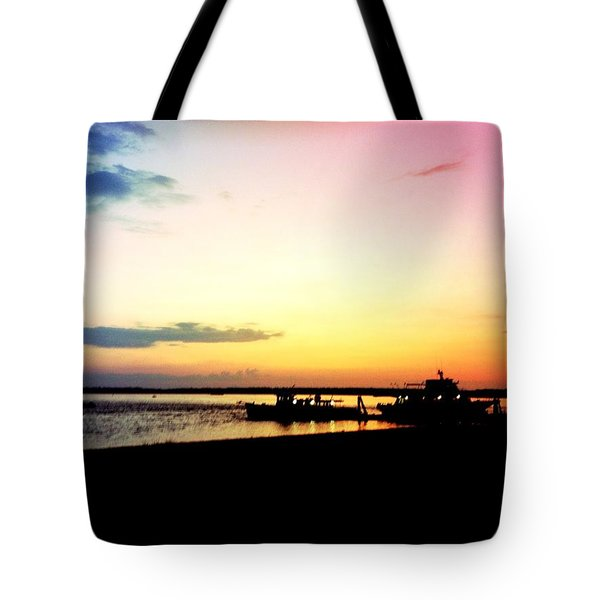 Tote Bag featuring the photograph Last Light by Denyse Duhaime