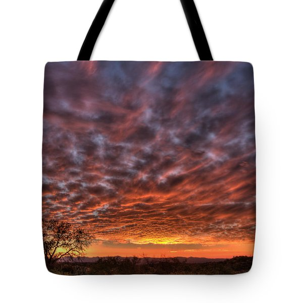 Last Light In Oracle Tote Bag