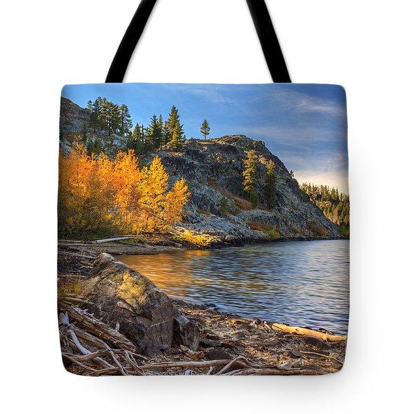 Last Light On Taylor Lake Tote Bag by James Eddy