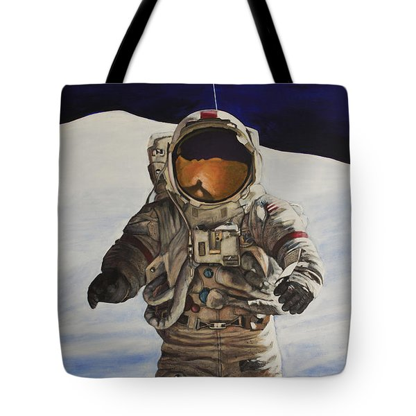 Last Man - Apollo 17 Tote Bag by Simon Kregar