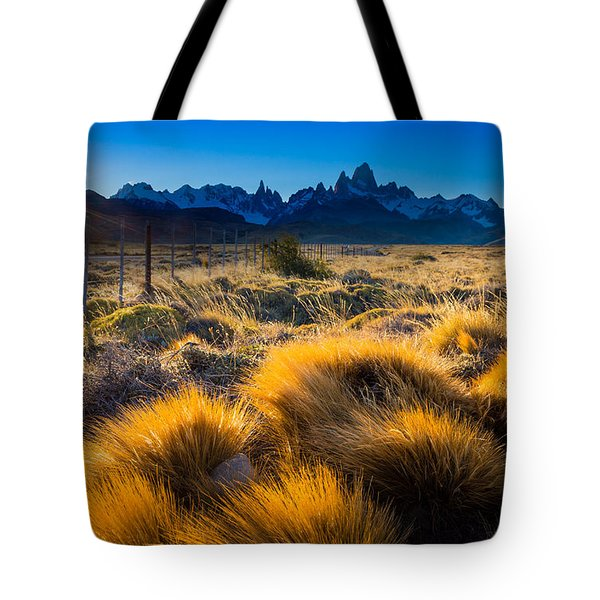 Last Rays On Fitz Roy Tote Bag