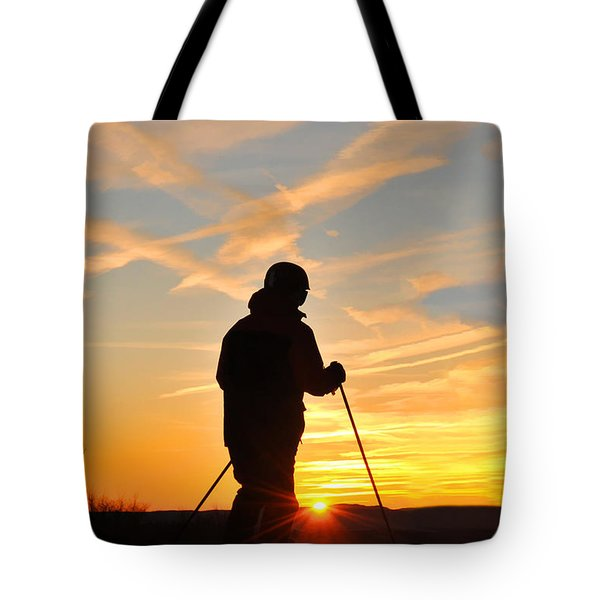 Last Run At End Of Day Tote Bag by Dan Friend