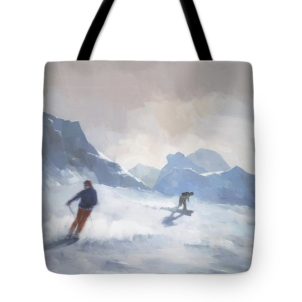 Last Run Les Arcs Tote Bag