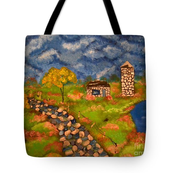 Tote Bag featuring the painting Last Spring by Denise Tomasura