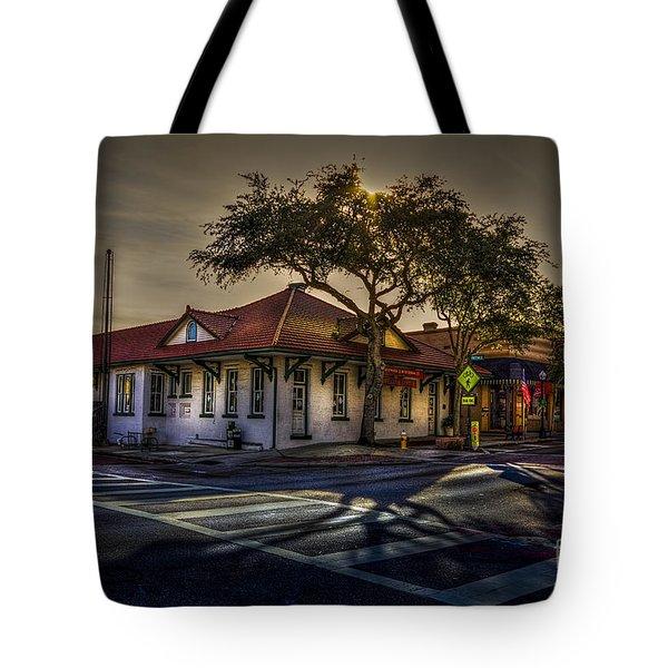 Last Stop Tarpon Springs Tote Bag by Marvin Spates