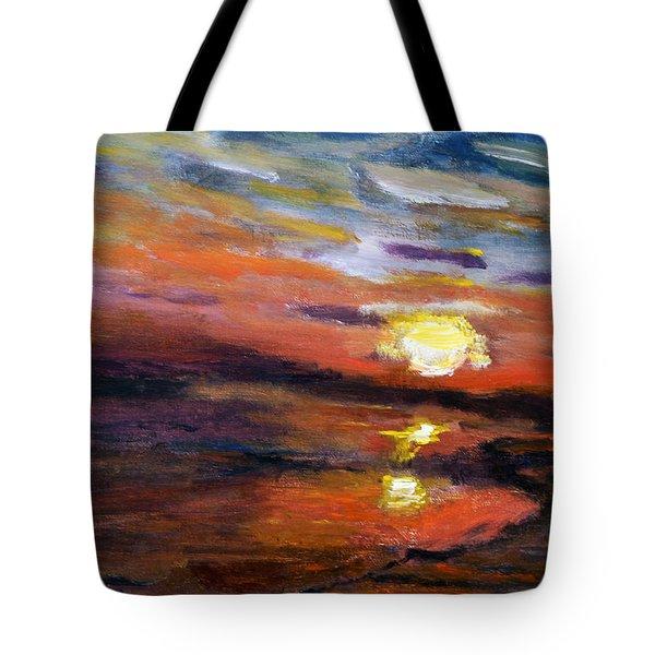 Last Sun Of Day Tote Bag