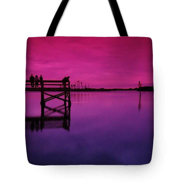 Last Sunset Tote Bag by Beverly Stapleton