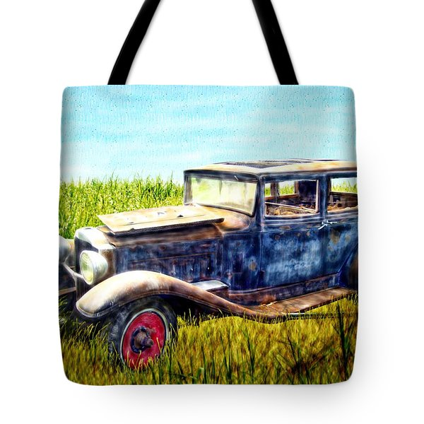 Last Tour For An Old Ford Touring Car Tote Bag