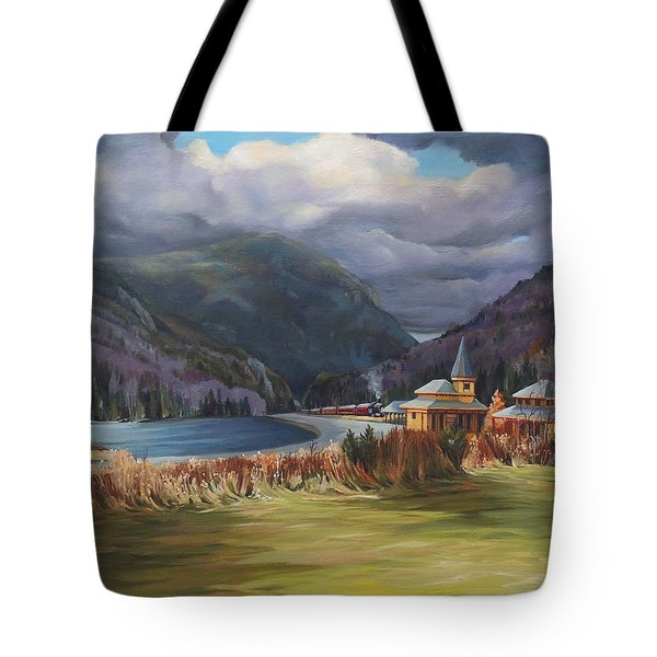 Last Train To Crawford Notch Depot Tote Bag by Nancy Griswold