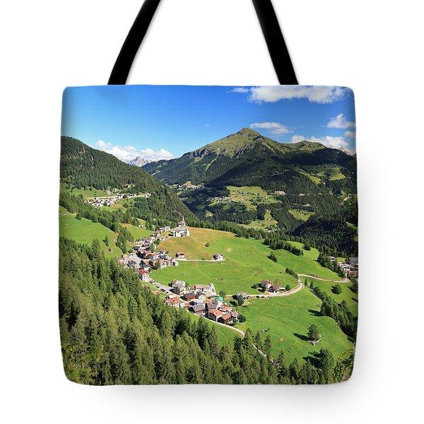 Laste - Val Cordevole Tote Bag by Antonio Scarpi