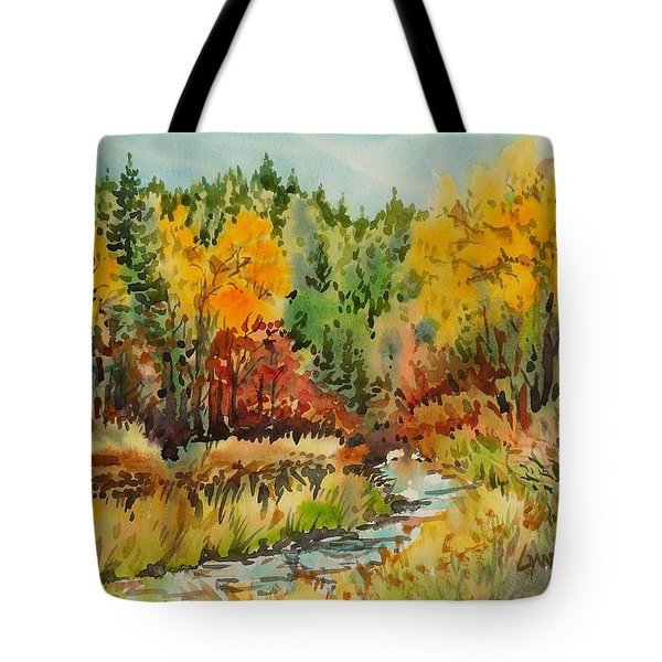 Latah Creek Fall Colors Tote Bag