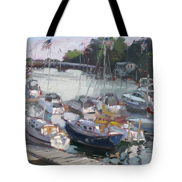 Late Afternoon By Tonawanda Harbor Tote Bag