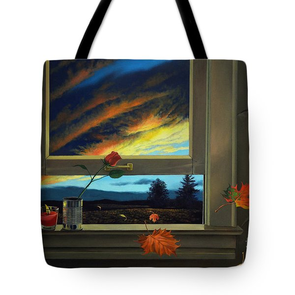Late Autumn Breeze By Christopher Shellhammer Tote Bag by Christopher Shellhammer