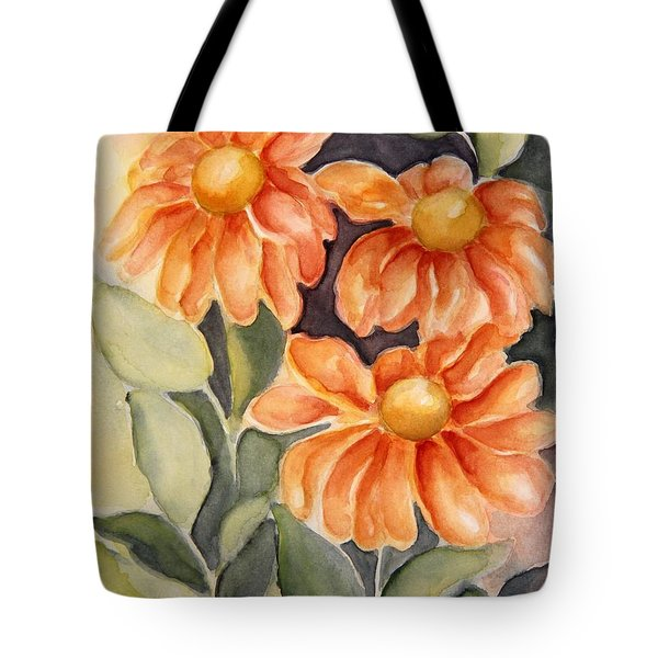 Late Autumn Flowers Tote Bag