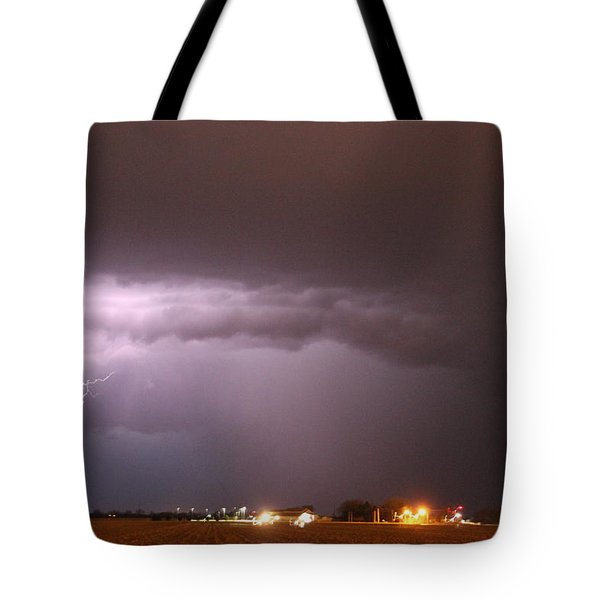 Late Evening Nebraska Thunderstorm Tote Bag