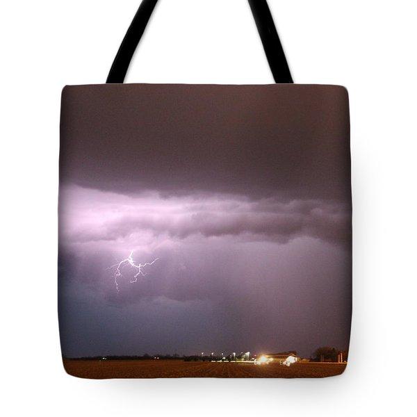 Tote Bag featuring the photograph Late Evening Nebraska Thunderstorm by NebraskaSC