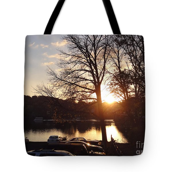Late Fall At The Station Tote Bag