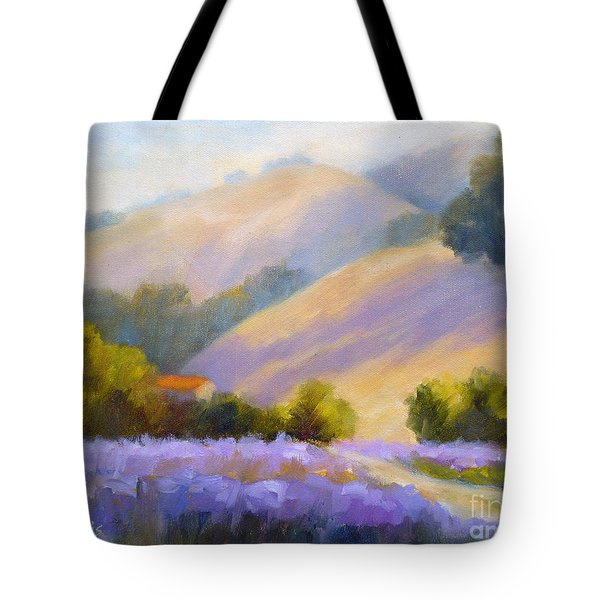 Late June Hills And Lavender Tote Bag
