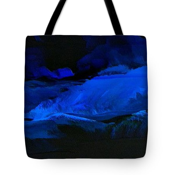 Late Night High Tide Tote Bag by Linda Bailey