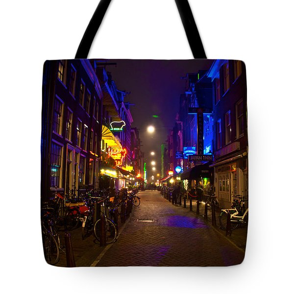 Late Night Neon  Tote Bag by Jonah  Anderson