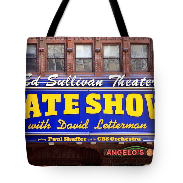 Late Show New York Tote Bag