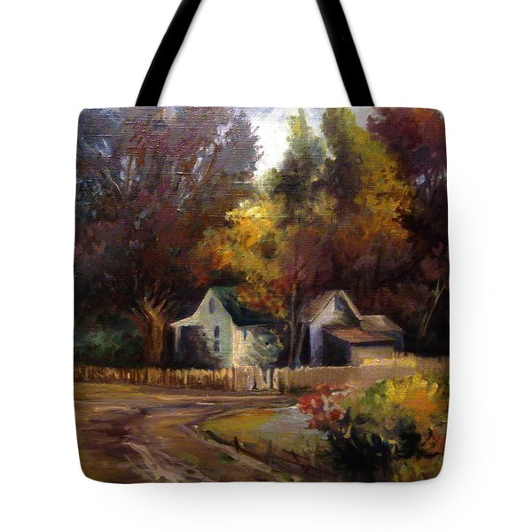 Tote Bag featuring the painting Late Summer by Mikhail Savchenko