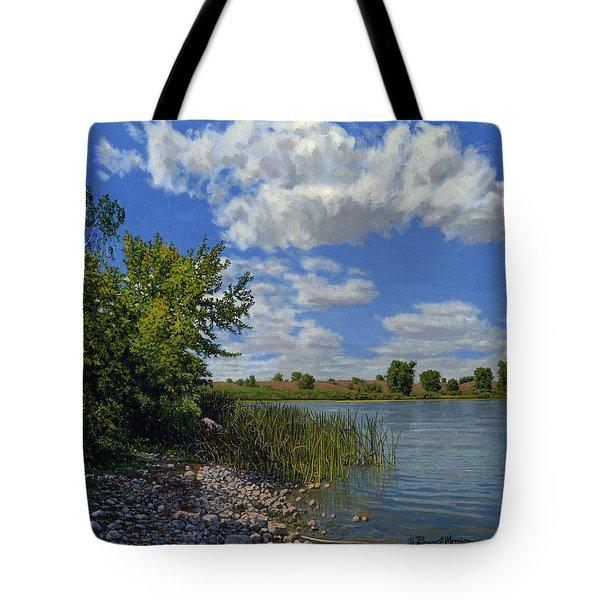 Late Summer On Lower Gar Tote Bag