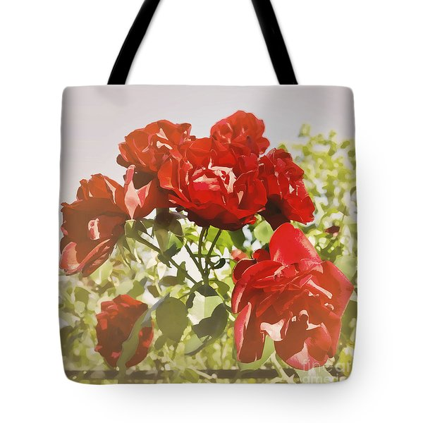 Late Summer Roses - Dreamy Tote Bag by Maria Janicki