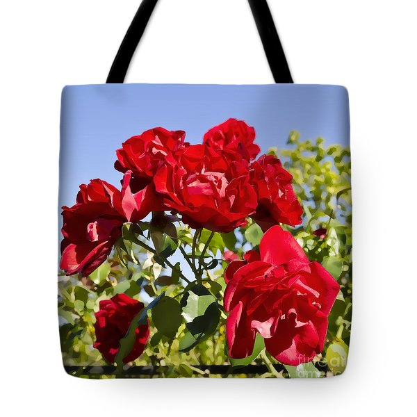 Late Summer Roses - Vibrant Tote Bag by Maria Janicki