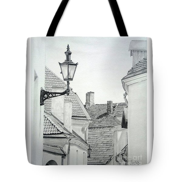 Latern Tote Bag by Jackie Mestrom