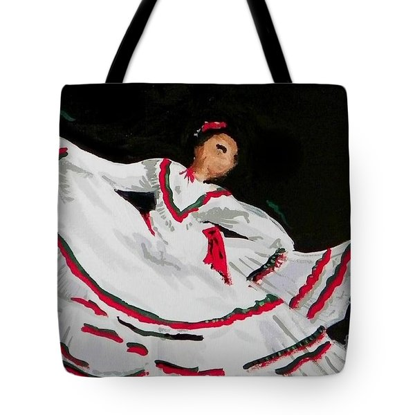 Latin Dancer Tote Bag by Marisela Mungia
