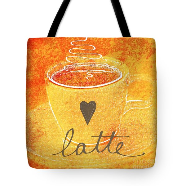 Latte Tote Bag by Linda Woods