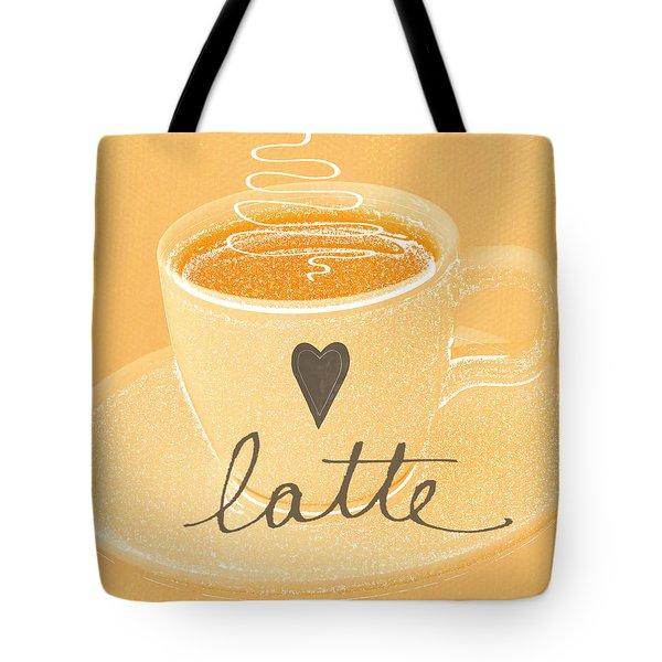 Latte Love In Orange And White Tote Bag