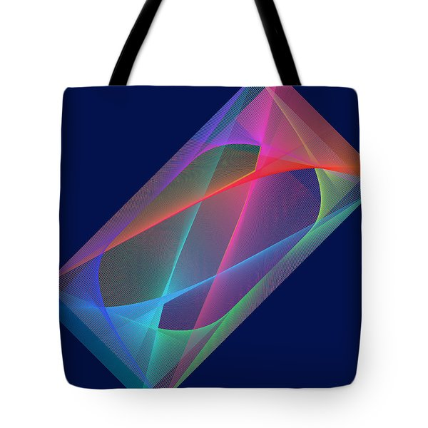 Tote Bag featuring the digital art L'attente/the Waiting by Karo Evans