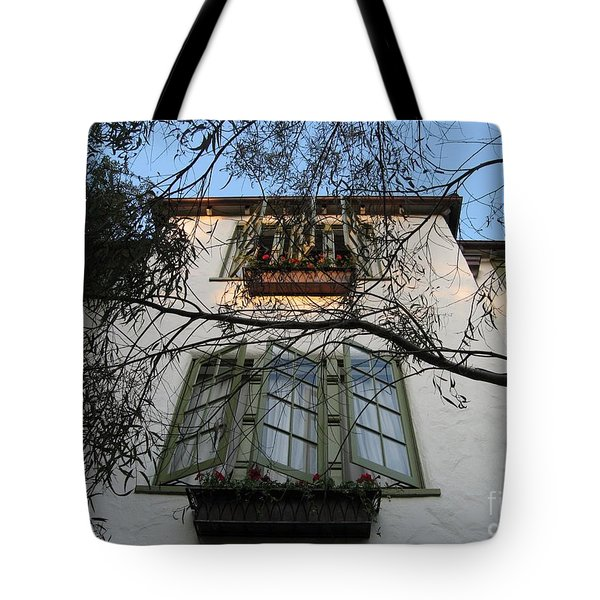 L'auberge Facade Tote Bag by James B Toy