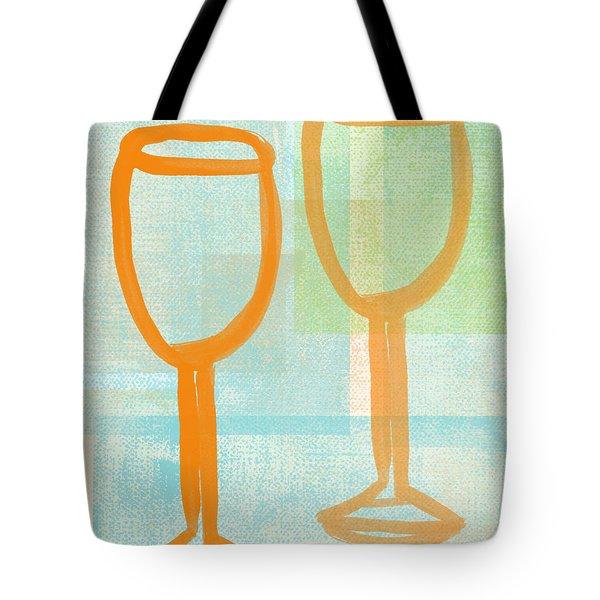 Laugh And Wine Tote Bag