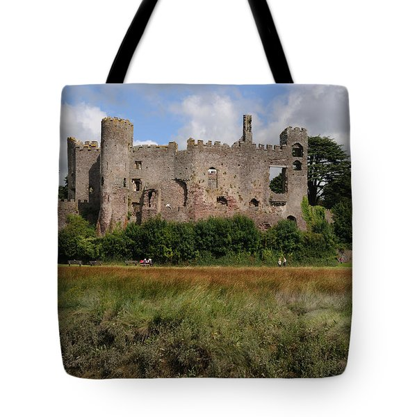 Laugharne Castle Tote Bag