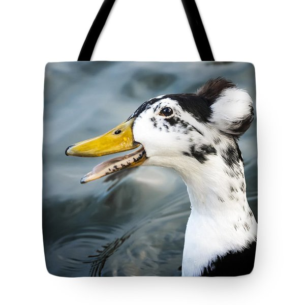 Laughing  Duck Tote Bag by Caitlyn  Grasso
