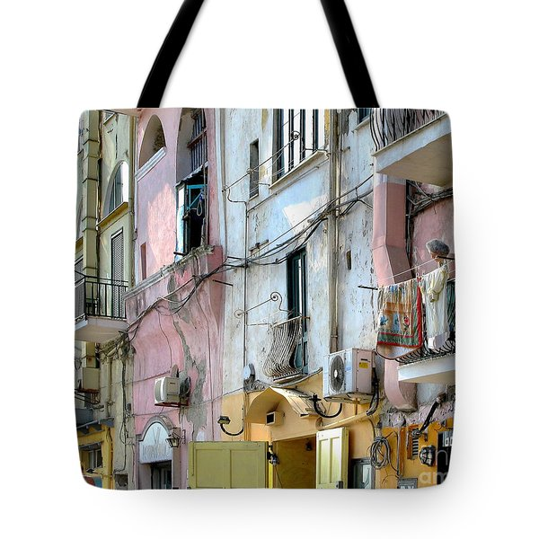 Laundry Day In Procida Tote Bag