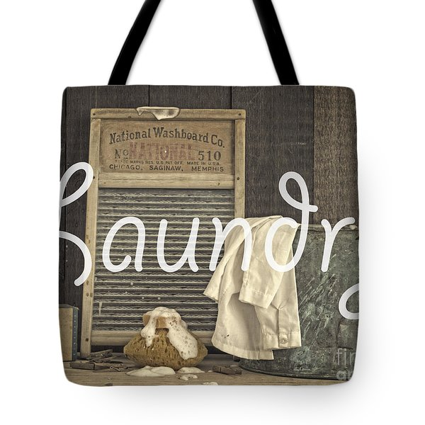 Laundry Room Sign Tote Bag by Edward Fielding