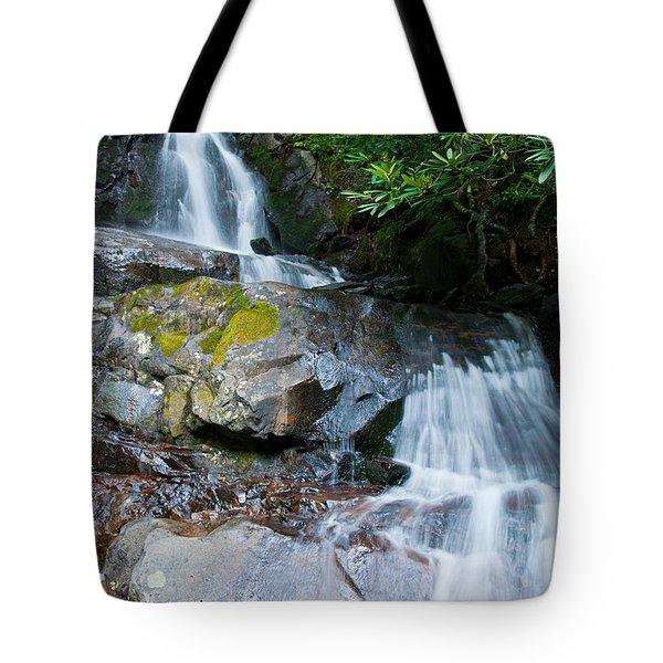 Laurel Falls Tote Bag by Melinda Fawver