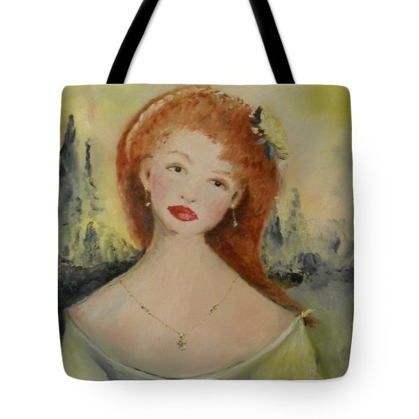 Tote Bag featuring the painting Laurel by Laurie L