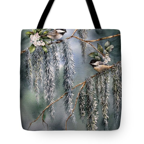 Laurel Meets Moss Tote Bag by Mary McCullah